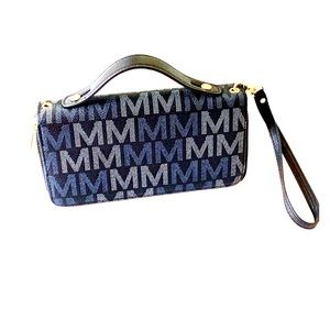 MKF Collection Double Zippered Wallet Wristlet